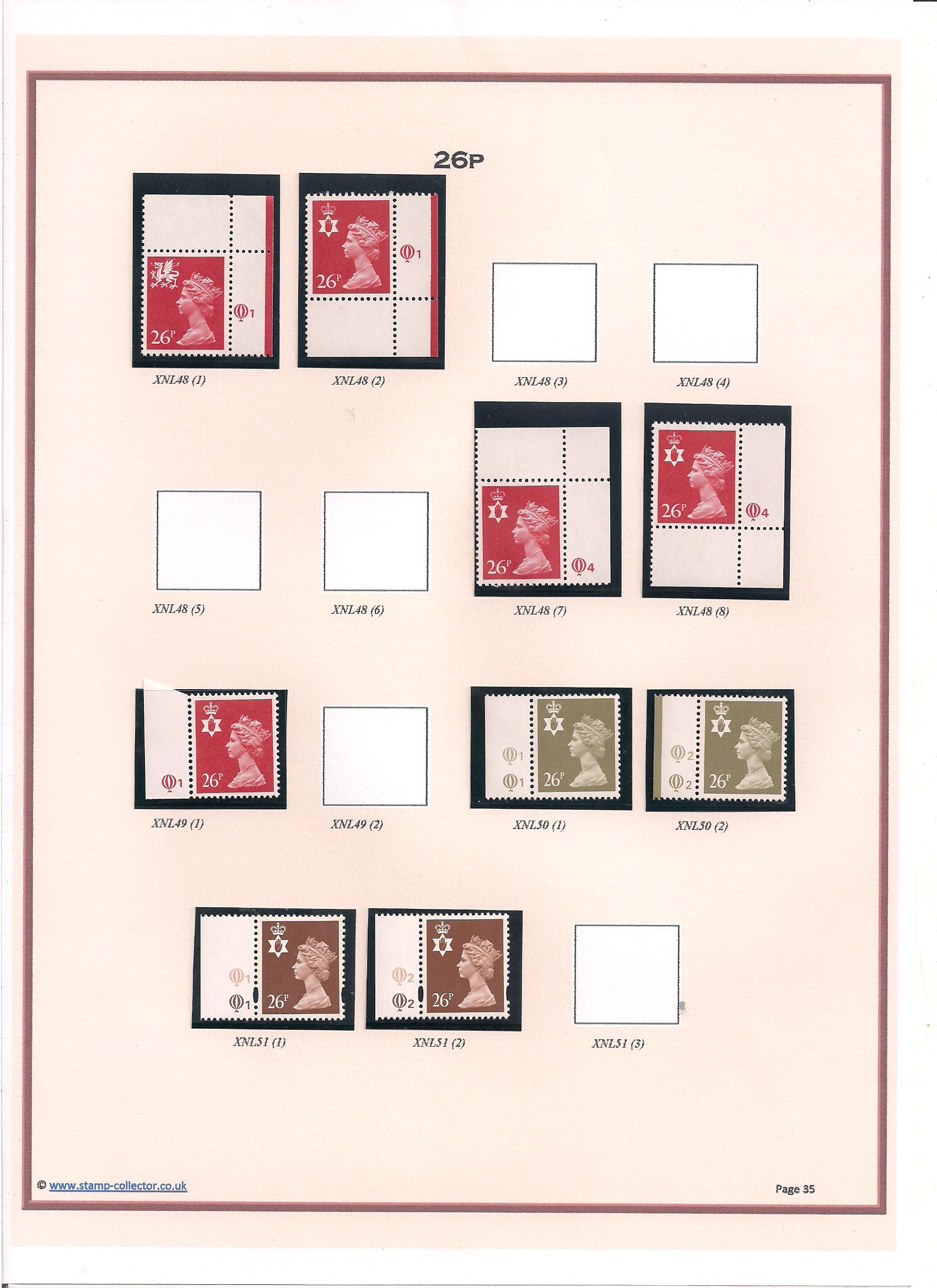 1971-2000 GB - Northern Ireland Cylinder Single Stamp Album