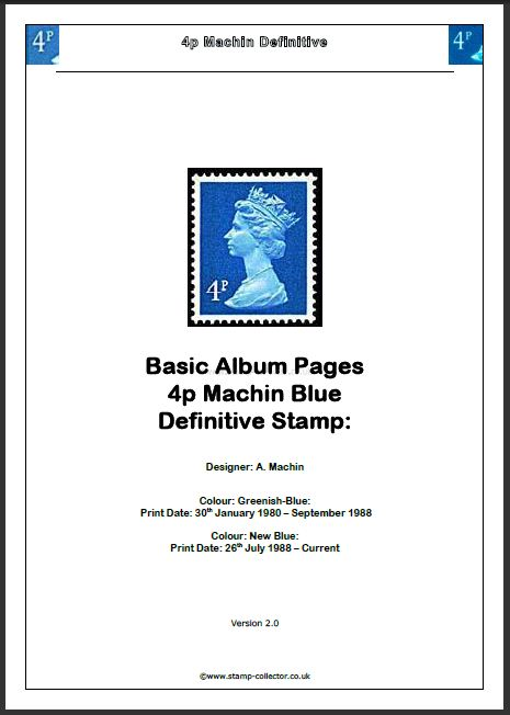 1980-2010 GB - 4p Value Machin Definitive Basic Album