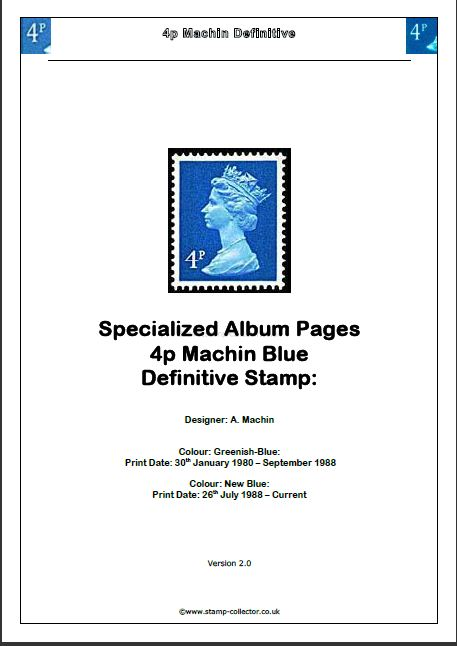 1980-2012 GB - 4p Value Machin Definitive Specialised Album v2.0