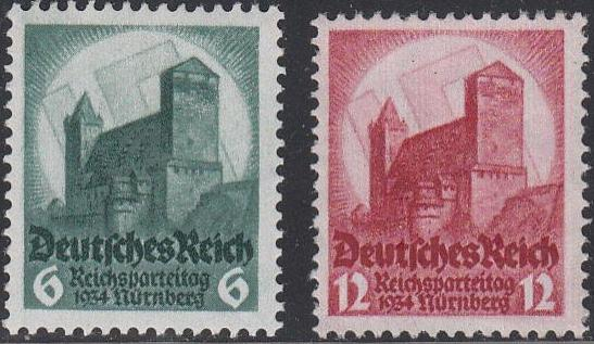 1934 - GER - SG543-4 Nuremberg Congress Set (2) VFU