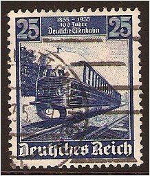 1935 - GER - SG579 25pf Hamburger Train FU