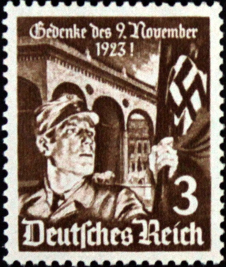 1935 - GER - SG595 3pf Anniv of Hitlers 1st Putsch MM