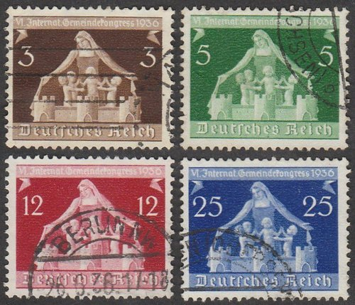 1936 - GER - SG614-17 Local Government Conference Set (4) FU