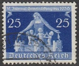 1936 - GER - SG617 25pf Local Government Conference FU