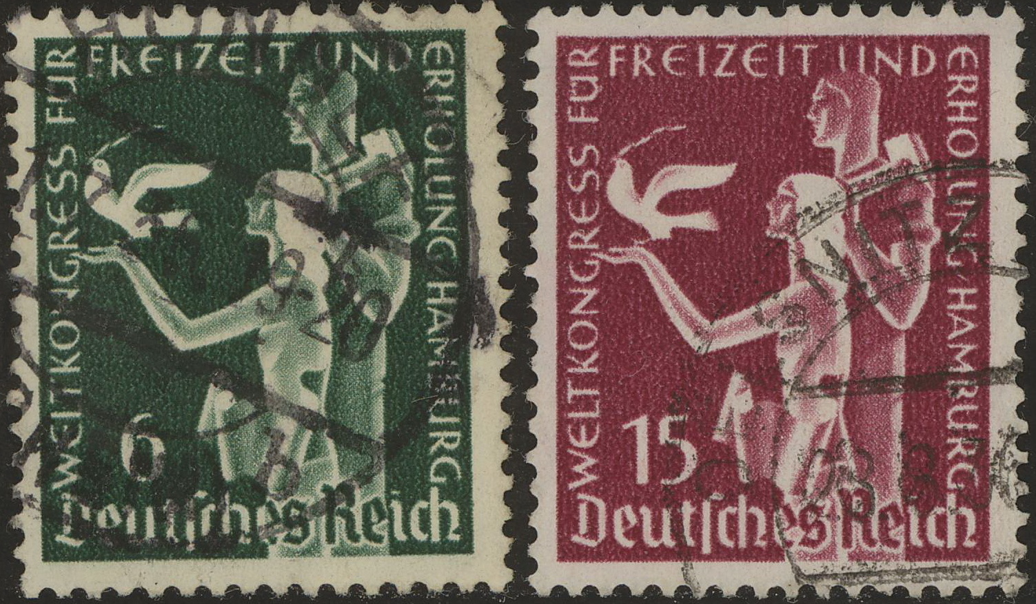 1936 - GER - SG619-20 Hamburg Recreational (2) VFU
