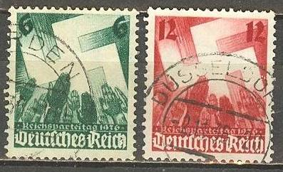 1936 - GER - SG621-22 Nuremberg Congress (2nd Issue) (2) FU