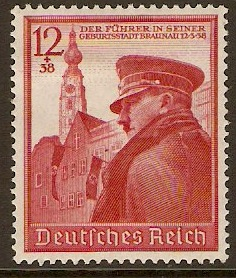 1939 - GER - SG679 12+38pf Hitler's 50th Birthday VFU