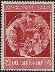 1940 - GER - SG732 12+38pf Hitler's 51st Birthday with Child VFU