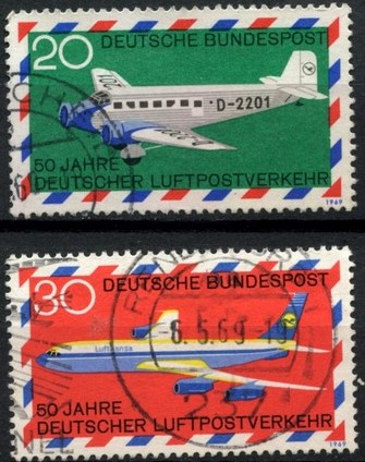 1969 - GER - SG1482-3 Airmail Services Set (2) VFU