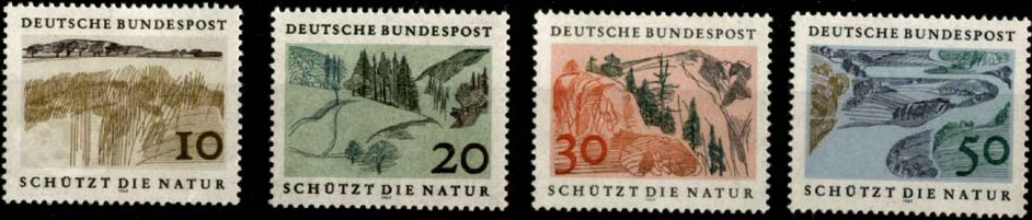 1969 - GER - SG1489-92 Nature Protection Set (4) VFU