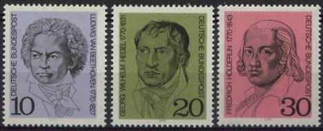 1970 - GER - SG1516-18 Birth Anniversaries MNH