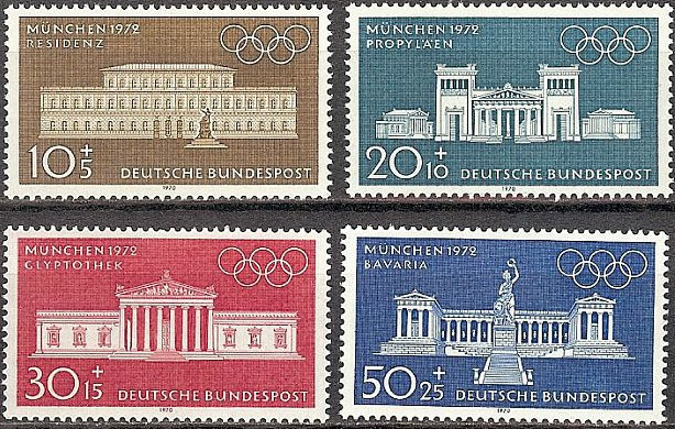 1970 - GER - SG1524-27 Olympic Games Set (4) MNH
