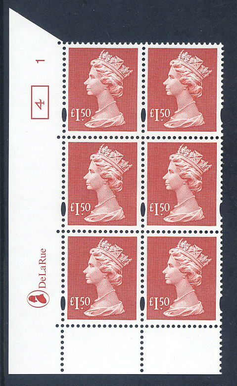 1999 GB - SGY1800 (UC14) £1.50 (E) Cyl 1 ND Box 4 AU MNH