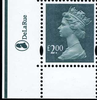 2005 GB - SGY1747 (U491x) £2 (D) 2B Marginal Logo Single (1) MNH