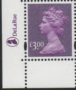 2003 GB - SGY1748 (U492) £3 Dp Mauve (D) 2B Logo Single MNH