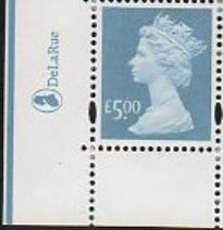 2003 GB - SGY1749 (U493) £5 Azure (D) 2B Mrginal Logo Single MNH
