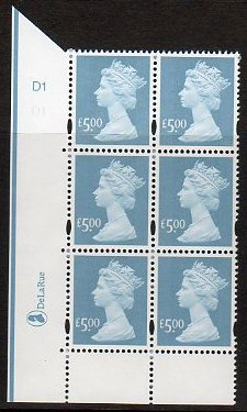 2003 GB - SGY1749 (U493) £5 Azure (D) Cyl D1 No Dot (6) AU