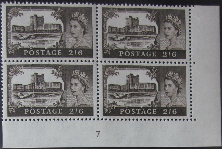 1963 GB - SG595a (T5) 2/6 Castle Crowns Wk Bradbury CYL 7 (4)