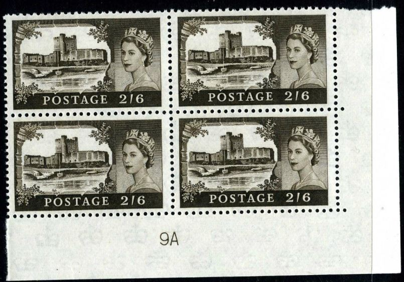 1963 GB - SG595a (T5) 2/6 Castle Crowns Wk Bradbury CYL 9 (4)