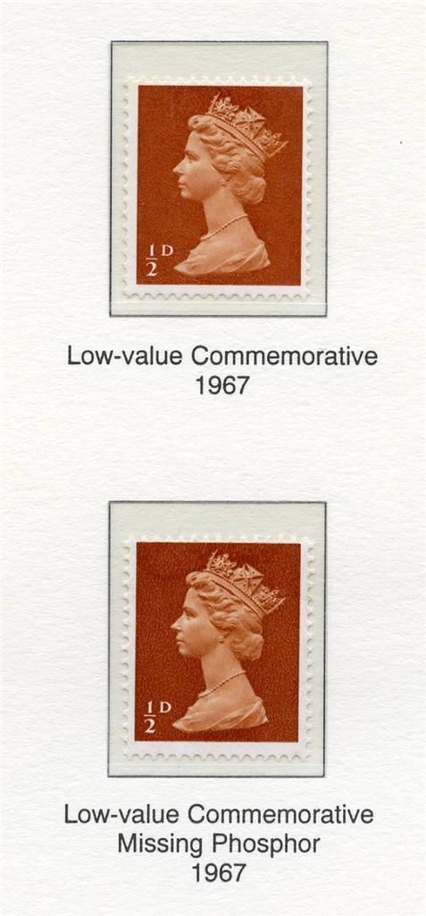 1968 GB - SG723ey (U1a) ½d Orange Brown Missing Phosphor MNH