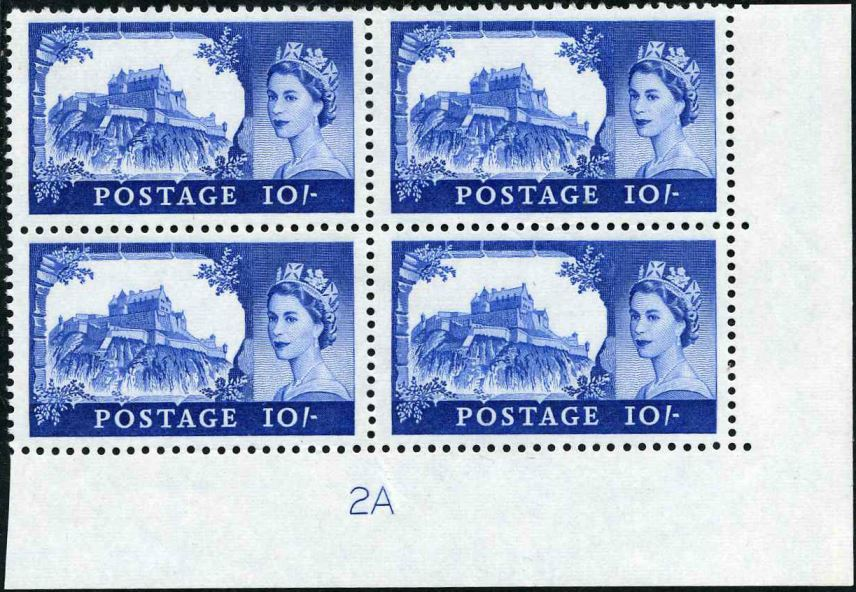1968 GB - SG761 (T19) 10/- Castle No Watermark CYL 2A (4)