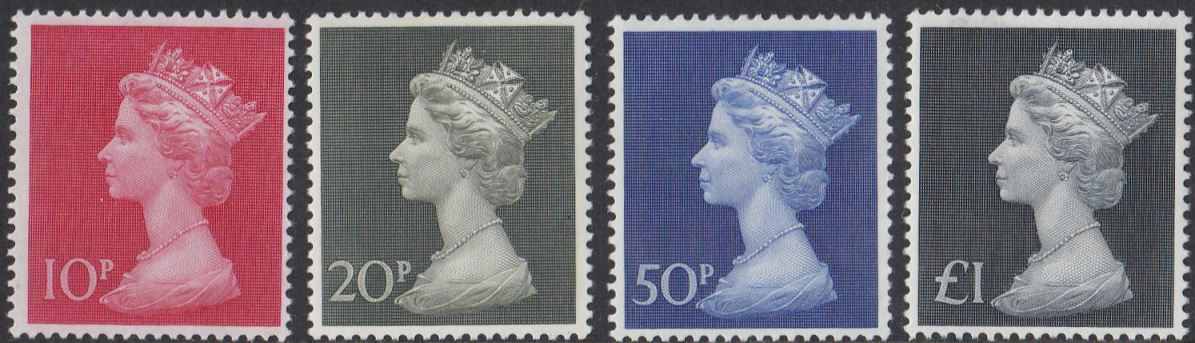 1970 GB - SG829-31b - Large High Values (10p 20p 50p and £1) MNH