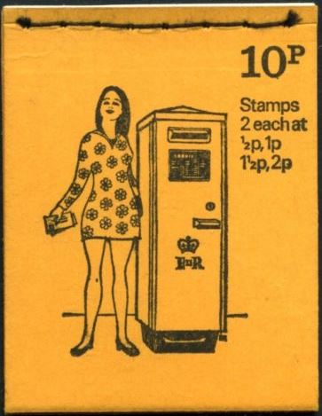 1972 GB - DN56 - Post Boxes No 6, OCT 72 FCP Good Perfs
