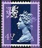 1974 GB - SGW18 4½p Grey-Blue (H) 2B MNH
