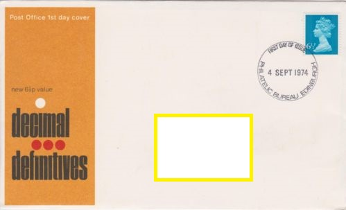 1974 GB - FDC - 6½p Changed Definitive (Addressed)