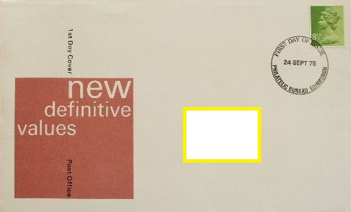1975 GB - FDC - 8½p Changed Definitive (Addressed)