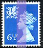 1976 GB - SGW22 6½p Greenish-Blue (H) 2B MNH