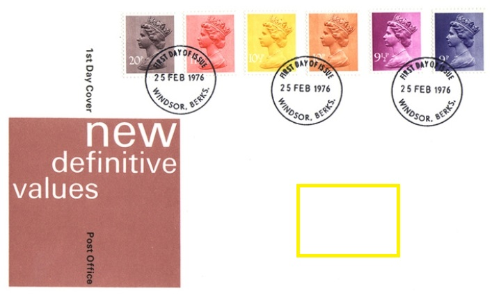1976 GB - FDC - 9p-20p Changed Definitives (Addressed)