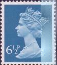1977 GB - SGX873 (U152) 6½p Greenish Blue RB (H) frm FB1A MNH