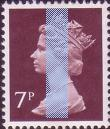 1978 GB - SGX875 (U154m) 7p CBar (H) Purple-Brown from FX1 MNH