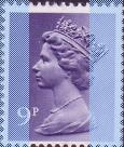 1977 GB - SGX883 (U176) 9p 2B (H) Violet from FB2/8 8mm MNH