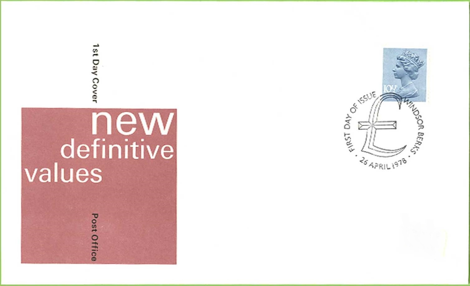 1978 GB - FDC - 10½p Changed Definitive (Addressed)