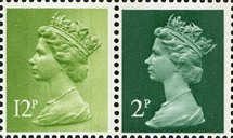 1980 GB - SGX849 (U80) 2p/12p 2B Green from £3 WW PB DX2 MNH