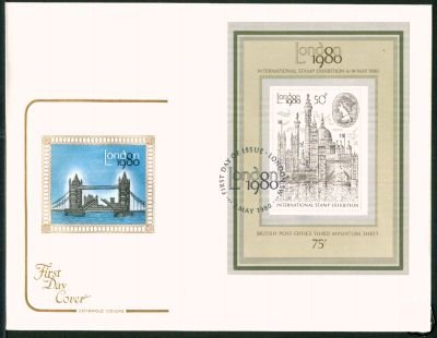 1980 GB - London Stamp Show Mini-Sheet (Cotswold)