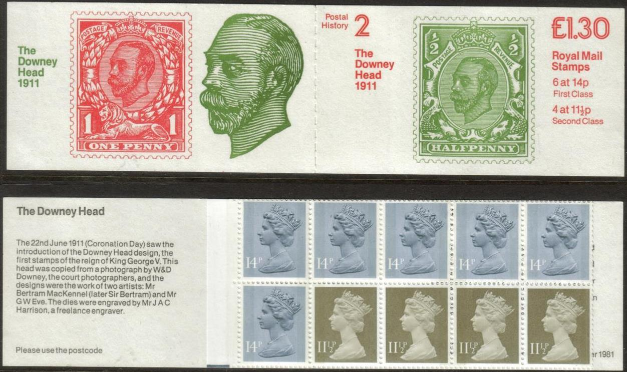 "1981 GB - FL2A - ""Downey Head"" Postal History No.2 Booklet Plain"