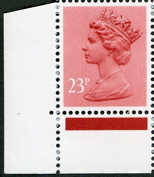 1983 GB - SGX965 (U283) 23p Brown-Red (H) Cnr Jubilee Mrgnl MNH