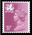 1984 GB - SGW65 (XWL58) 31p Bright Purple PCP (Q) MNH