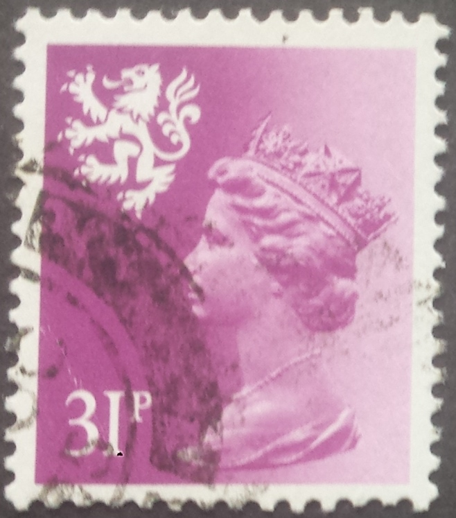 1984 GB - SGS51 (XSL65) 31p Brt Purple (Wadd) P.14 Type I FU (1)