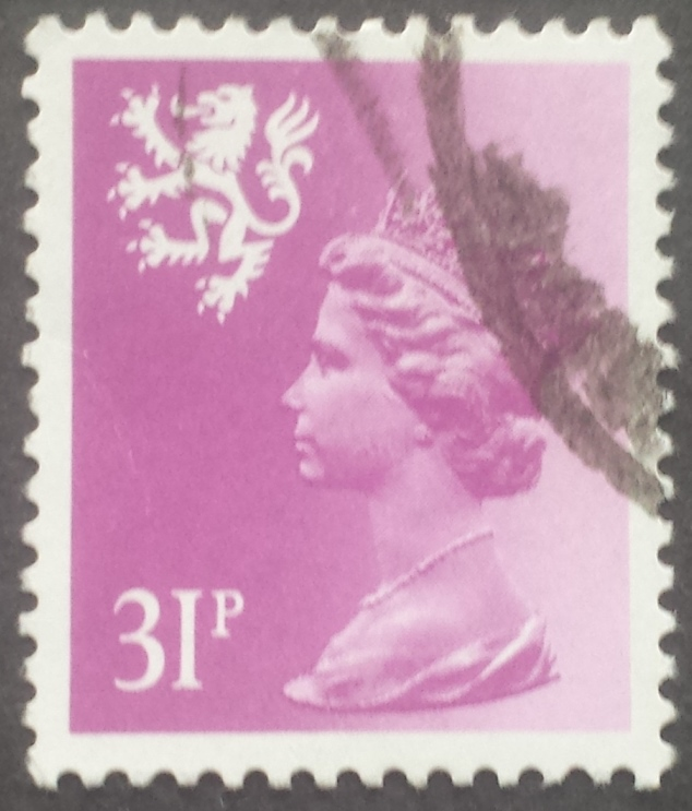 1984 GB - SGS51 (XSL65) 31p Brt Purple (Wadd) P.14 Type I FU (2)