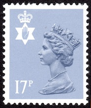 1986 GB - SGNI43Ea (XNL19) 17p Grey-Blue ACP Type 2 Scarce MNH