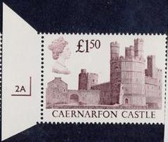 1988 GB - SG1411 £1.50 Caernarfon 1st Series CYL Single 2A