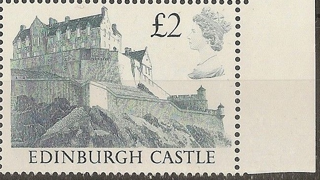 1988 GB - SG1412 £2.00 Edinburgh 1st Series Right Marginal MNH