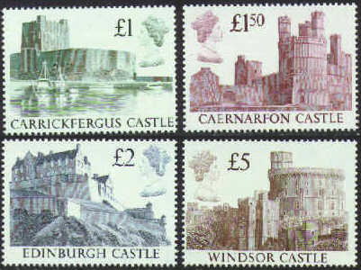 1988 GB - SG1410-13 Castle 1st Series Set of 4 VFU