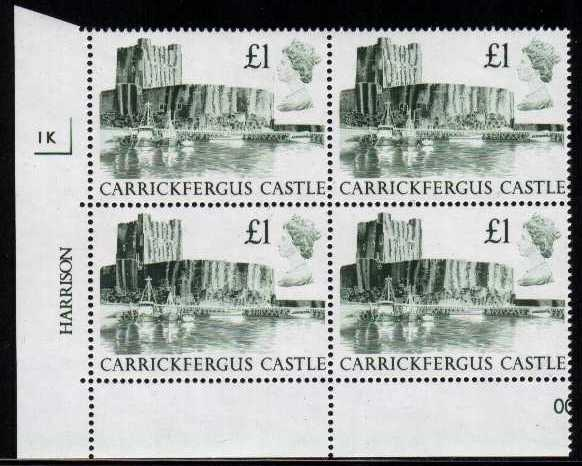 1988 GB - SG1410 £1.00 Carrickfergus 1st Series CYL 1J