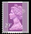 1989 GB - SGX1054 (UG76) 29p 2B Purple (W) from GG1 IIPP MNH