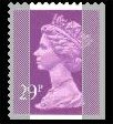 1989 GB - SGX1054 (UG76) 29p 2B Purple (W) from GG1 PIIP MNH